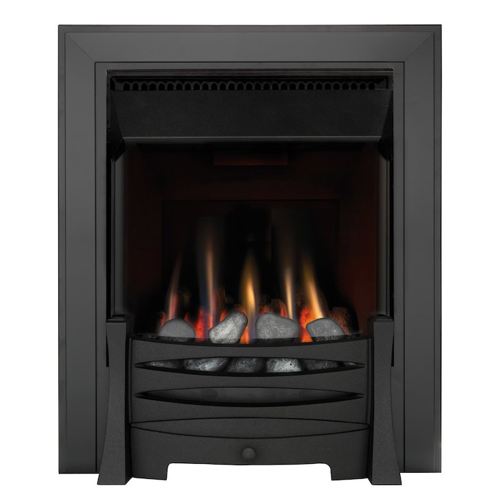 Burley Perception Flueless Inset Gas Fire - Black