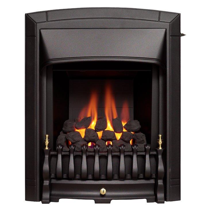 Valor Dream Slimline Conventional Flue Inset Gas Fire - Black