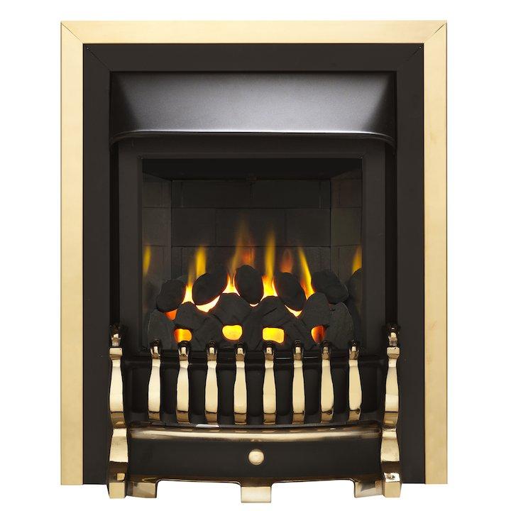 Valor Blenheim Homeflame HE Conventional Flue Inset Gas Fire - Brass