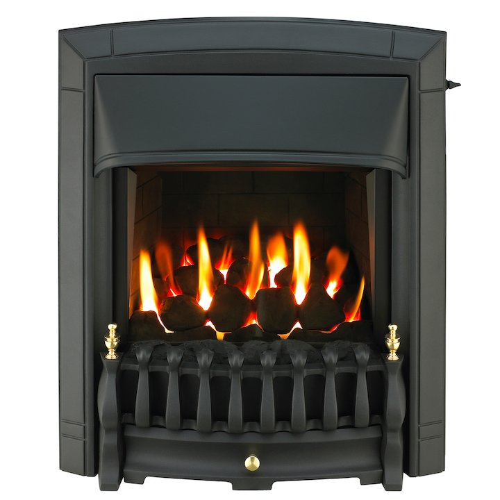 Valor Dream Homeflame HE Conventional Flue Inset Gas Fire - Black