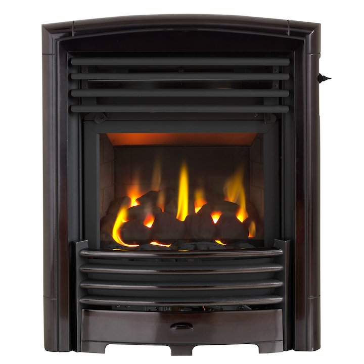 Valor Petrus Homeflame HE Conventional Flue Inset Gas Fire - Black