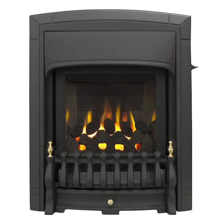 Valor Dream Homeflame Slimline HE Conventional Flue Inset Gas Fire - Black