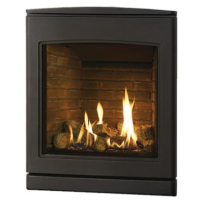 Yeoman CL 530 Conventional Flue Inset Gas Fire Anthracite Brick Effect Lining