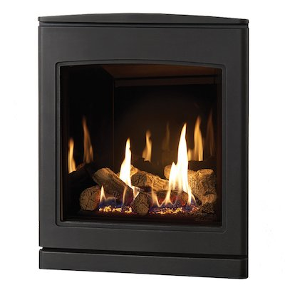 Yeoman CL 530 Conventional Flue Inset Gas Fire Anthracite Black Glass Lining