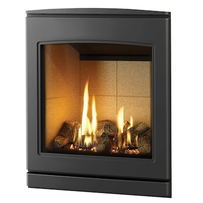 Yeoman CL 530 Conventional Flue Inset Gas Fire Anthracite Beige Vermiculite Lining