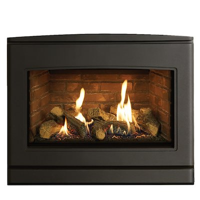 Yeoman CL 670 Conventional Flue Inset Gas Fire Anthracite Brick Effect Lining