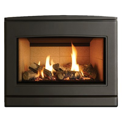 Yeoman CL 670 Conventional Flue Inset Gas Fire Anthracite Beige Vermiculite Lining