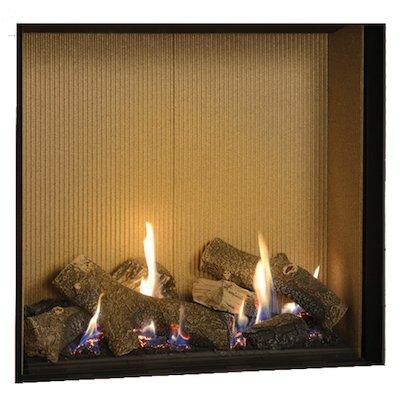 Gazco Riva2 750HL Balanced Flue Gas Fire Black Fluted Vermiculite Lining