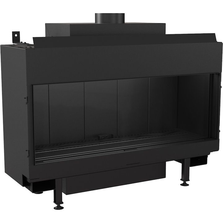 Kratki Leo 100 Conventional Flue Gas Fire - Black