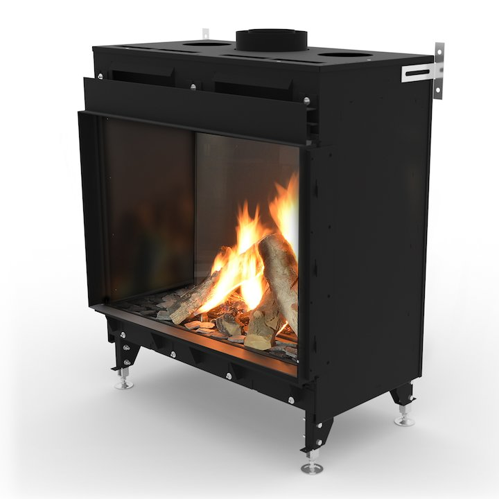 Planika Monroe 900 Balanced Flue Gas Fire - Black