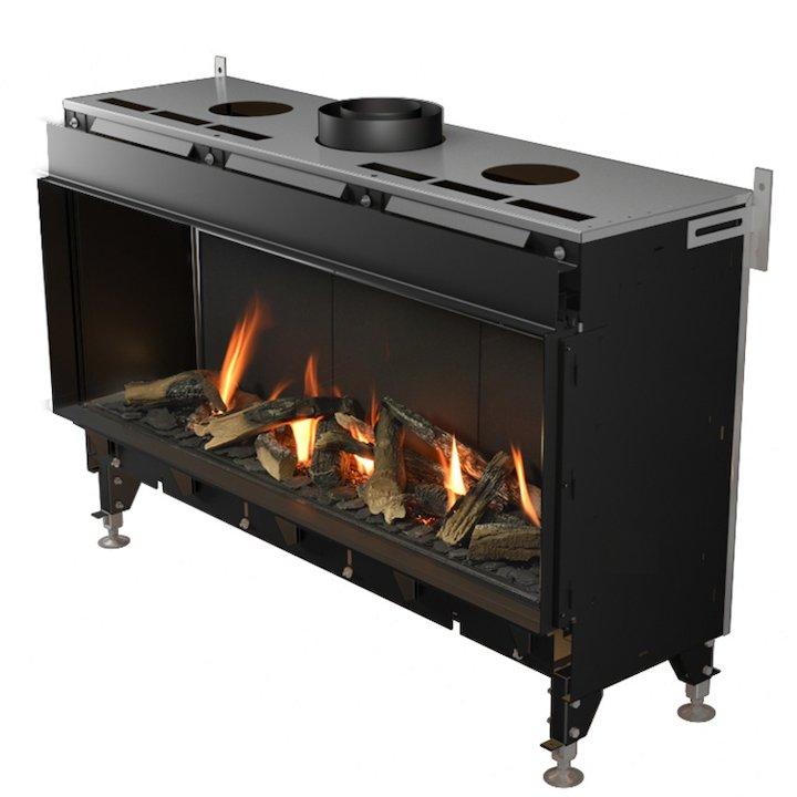 Planika Valentino 1300 Balanced Flue Gas Fire - Black