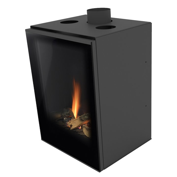 Planika Versal 400 Conventional Flue Gas Fire - Black