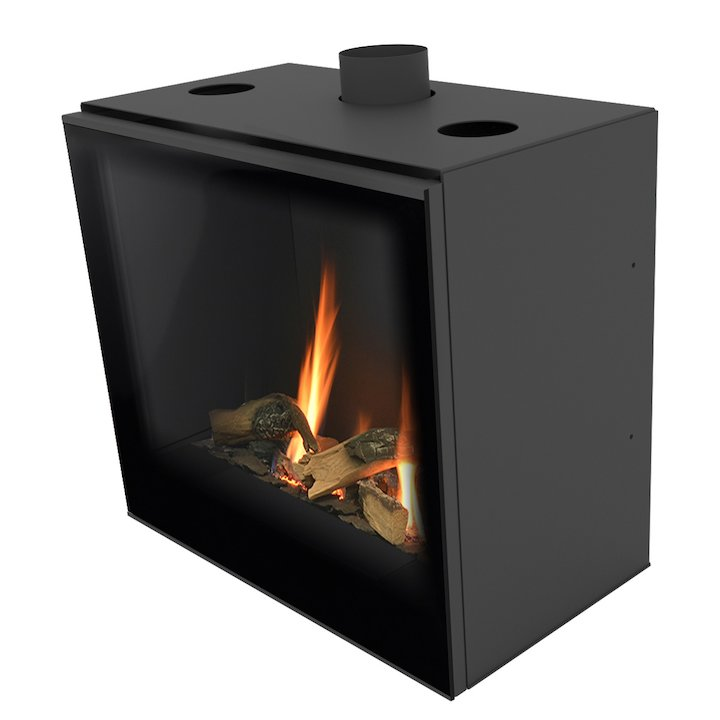 Planika Versal 600 Conventional Flue Gas Fire - Black