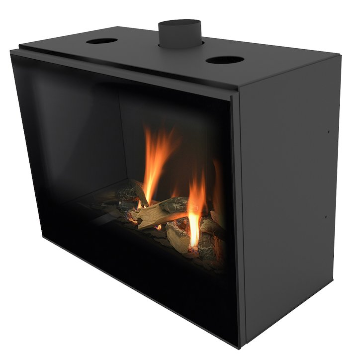 Planika Versal 750 Conventional Flue Gas Fire - Black