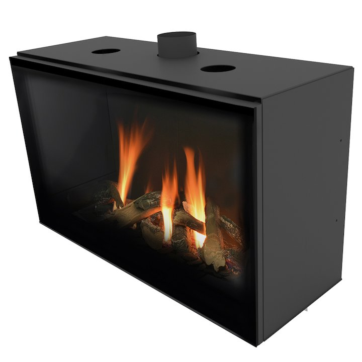 Planika Versal 900 Conventional Flue Gas Fire - Black