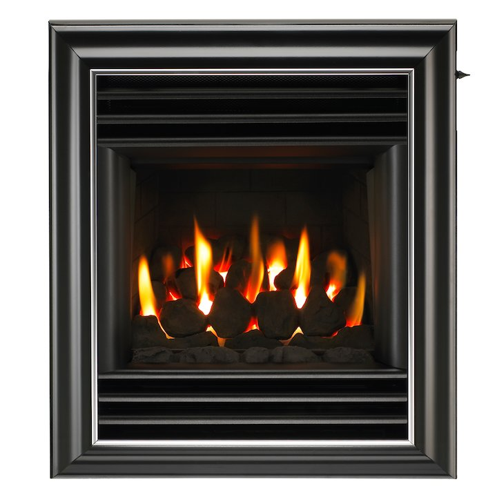 Valor Homeflame HE Harmony Conventional Flue Gas Fire - Black