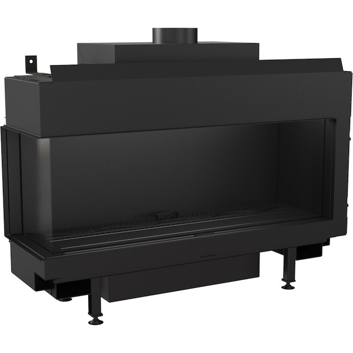 Kratki Leo 100 Conventional Flue Built-In Gas Fire - Corner