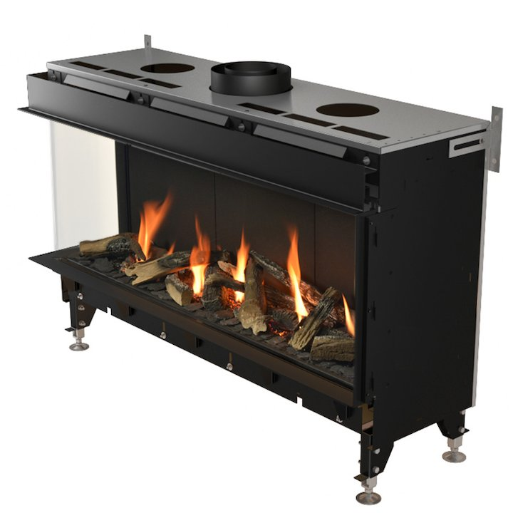 Planika Valentino 1000 Balanced Flue Built-In Gas Fire - Corner