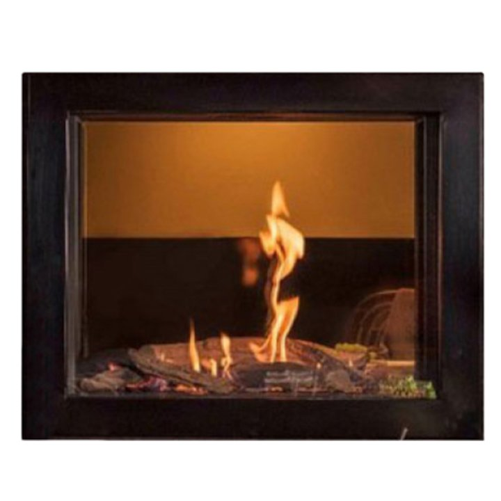 Wanders Douglas Balanced Flue Built-In Gas Fire - Tunnel Black Natural Gas - Black