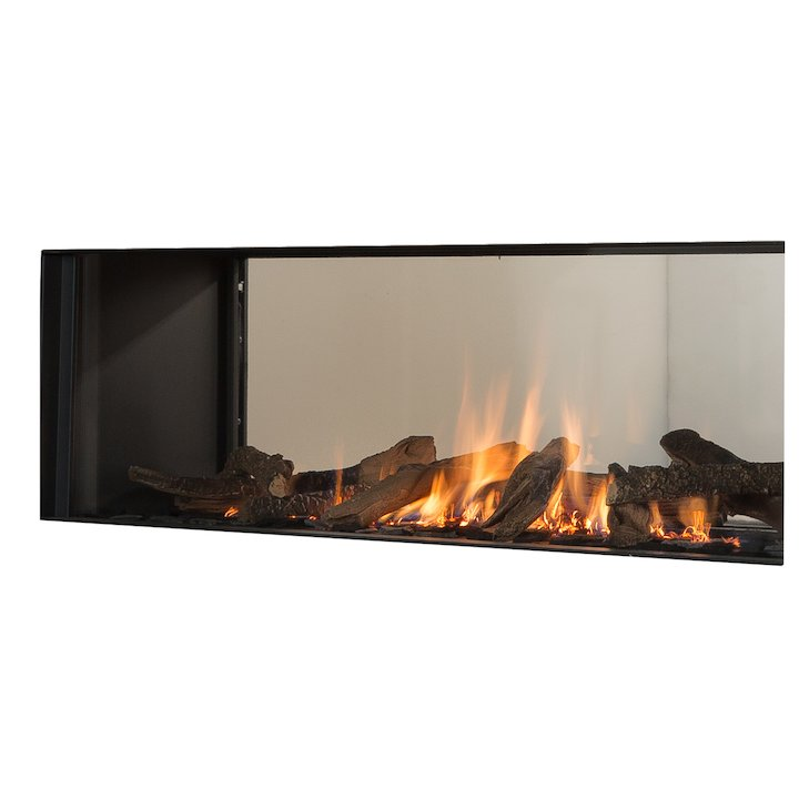 Wanders Koto Balanced Flue Built-In Gas Fire - Tunnel Black LPG - Black