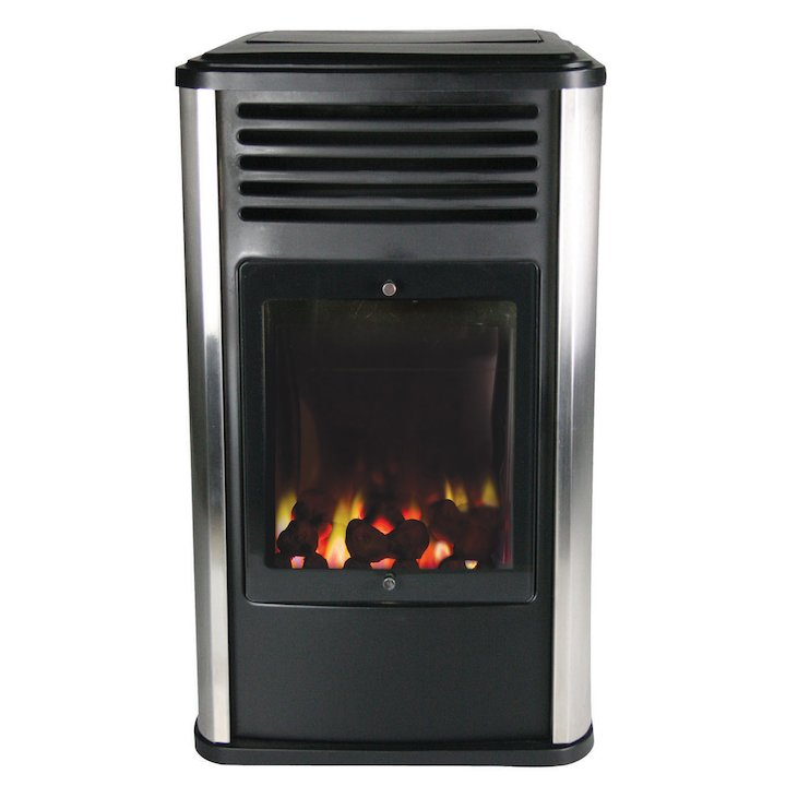 UI Manhattan Flueless Portable Gas Fire - Black