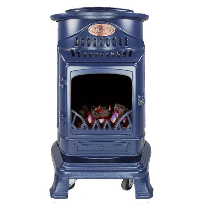 UI Provence Flueless Portable Gas Fire - Blue