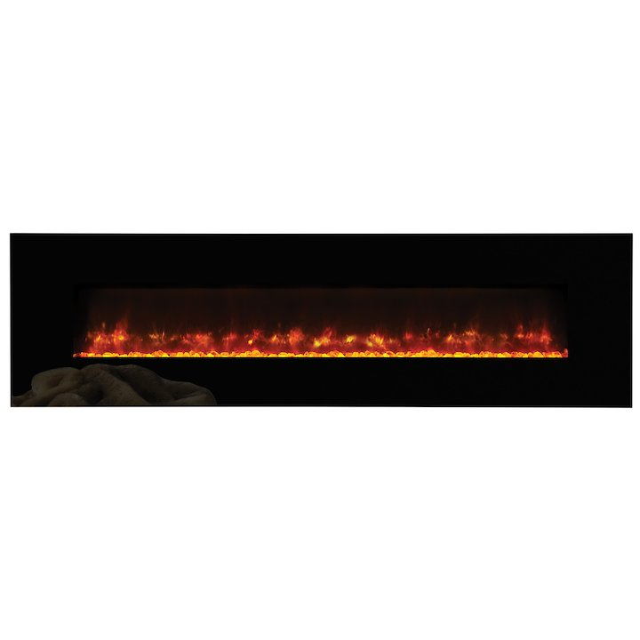 Gazco Radiance 190w Wall Mounted Electric Fire - Black Glass