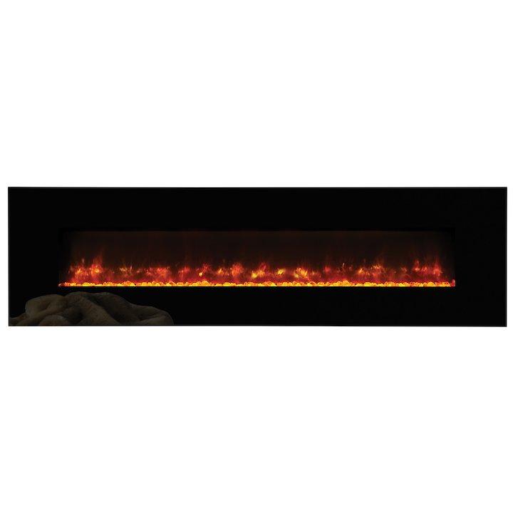 Gazco Radiance 190w Wall Mounted Electric Fire - Black Glass