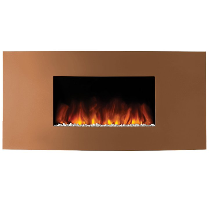 Gazco Studio 1 Verve Wall Mounted Electric Fire - Bronze