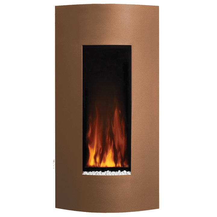 Gazco Studio 22 Verve Wall Mounted Electric Fire - Bronze