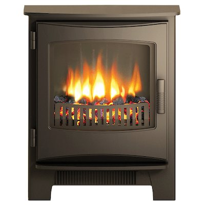 Broseley Evolution Desire/Ignite Inset Electric Stove Black Cast-Iron Door