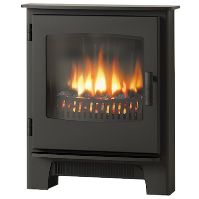 Broseley Evolution Desire/Ignite Inset Electric Stove Black Steel Door