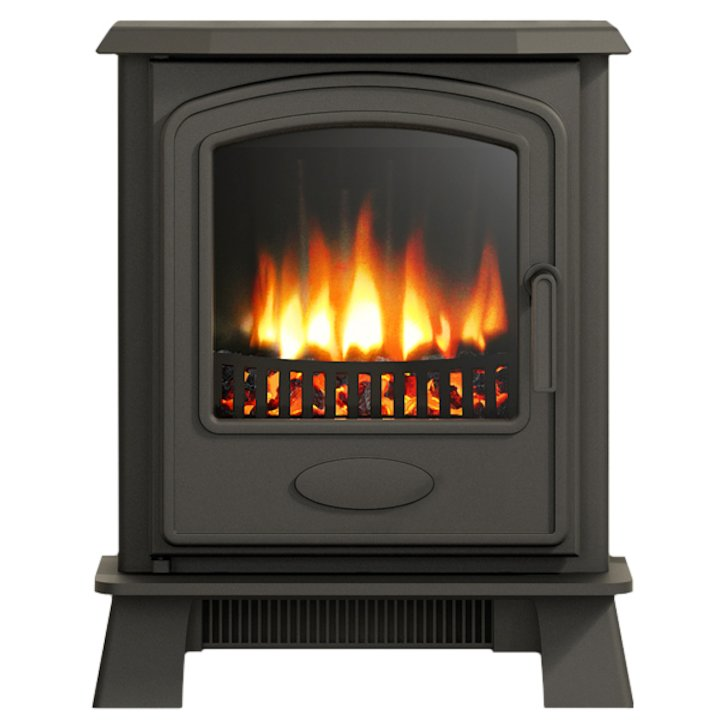 Broseley Hereford Inset Electric Stove - Black