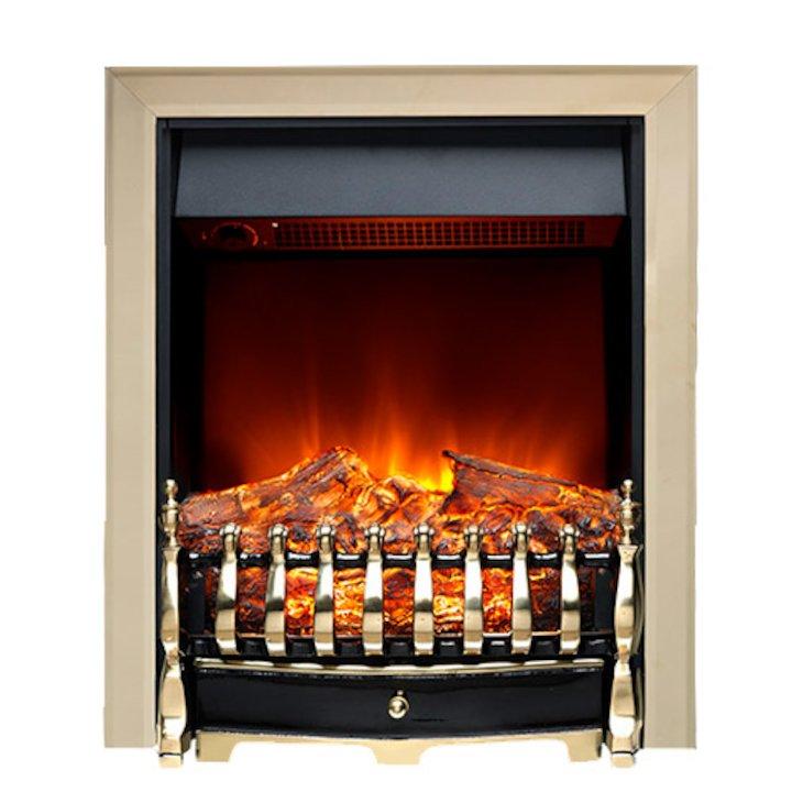Burley Leighfield Electric Fire - Brass