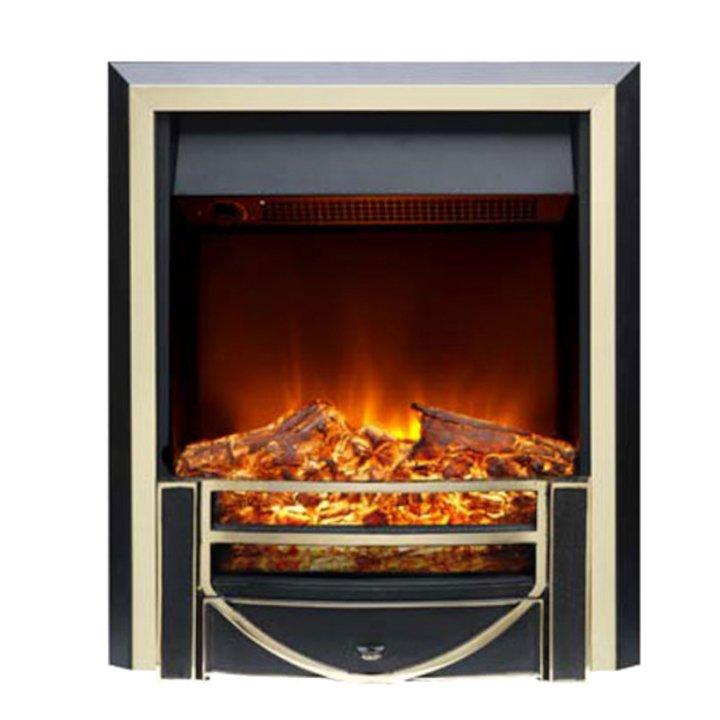 Burley Ryhall Electric Fire - Black / Brass