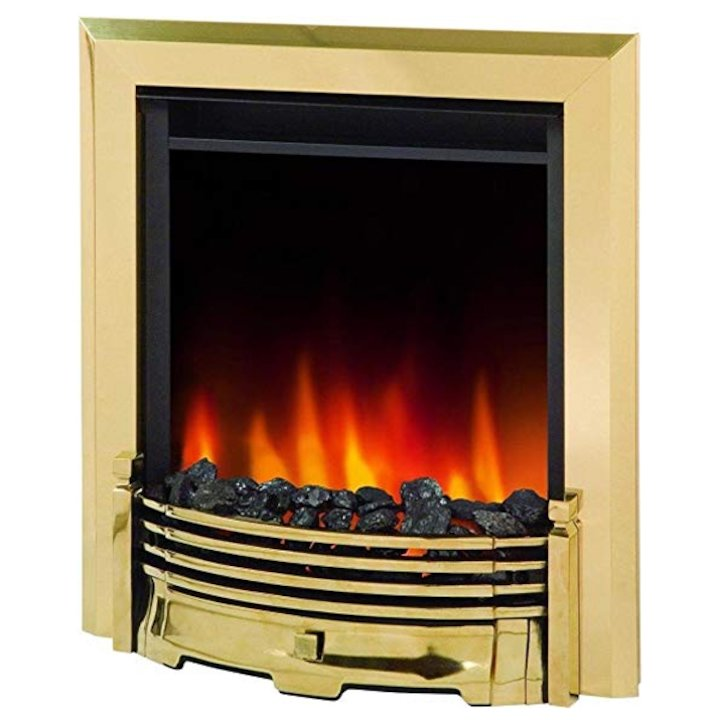 Dimplex Loxley Optiflame Electric Fire - Brass