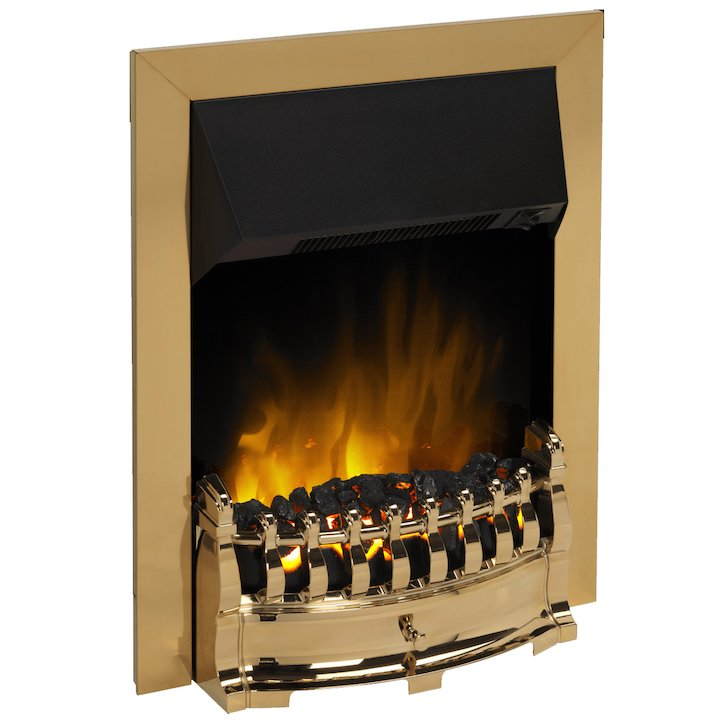 Dimplex Stamford Optiflame Electric Fire - Brass