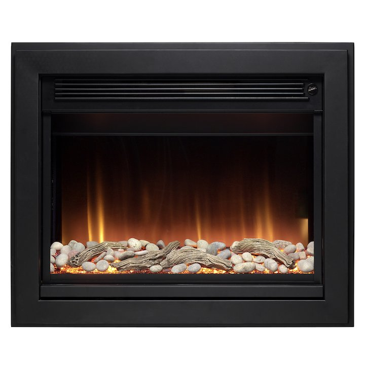 Burley Whitwell Wall Mounted Electric Fire - Black