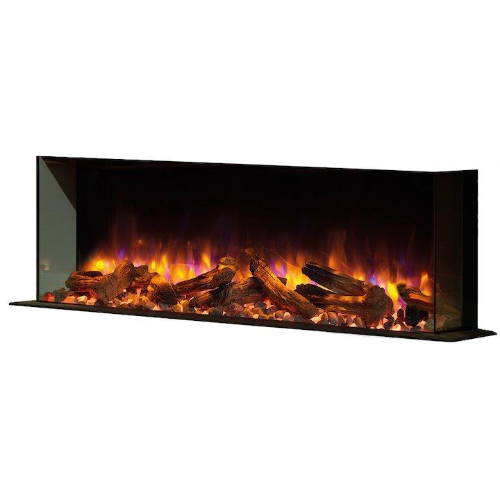 Gazco eReflex 110w Built-In Electric Fire - Corner/Three Sided - Black