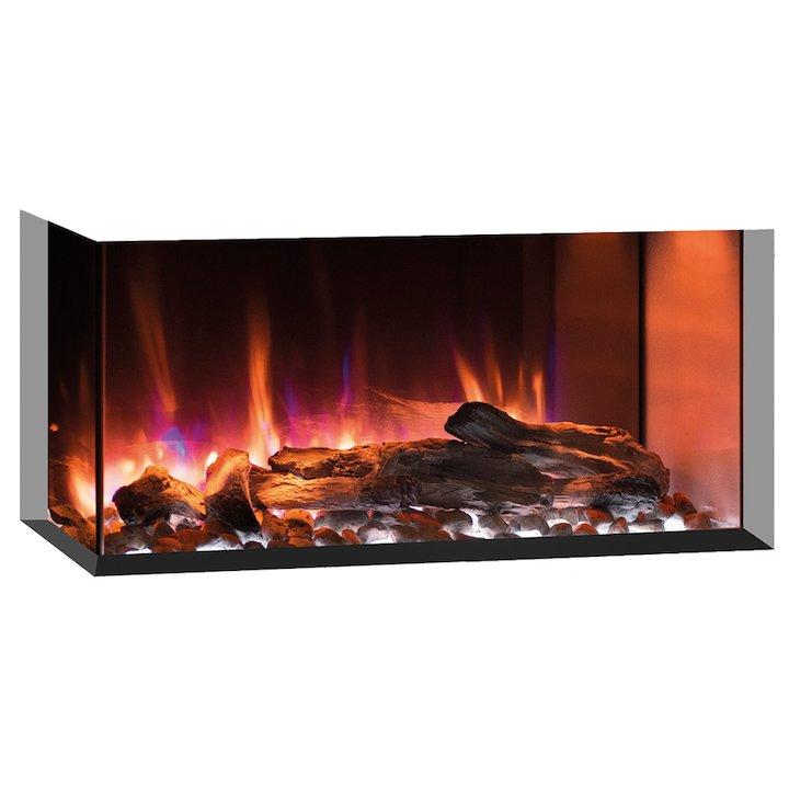 Gazco eReflex 70w Built-In Electric Fire - Corner/Three Sided - Black