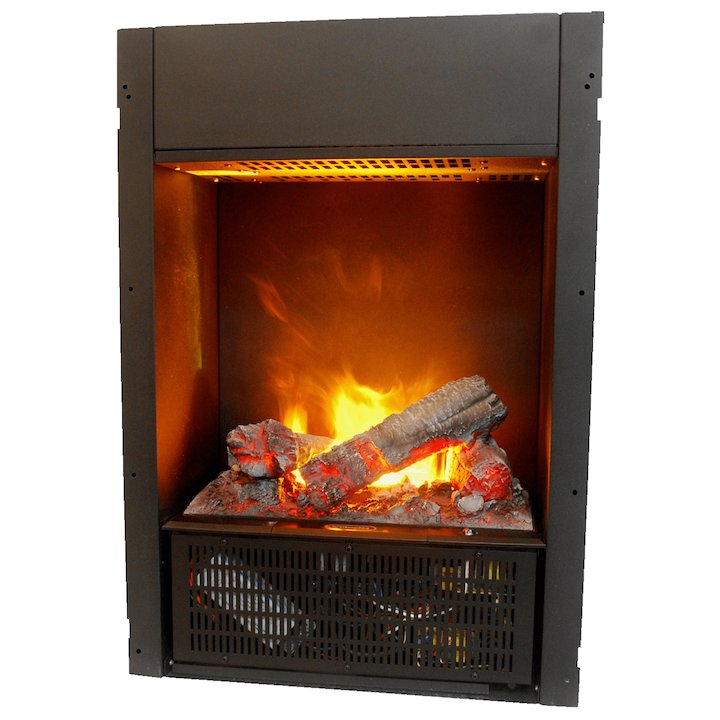 Dimplex Chassis 400 Optimyst Built-In Electric Fire - Frontal - Black