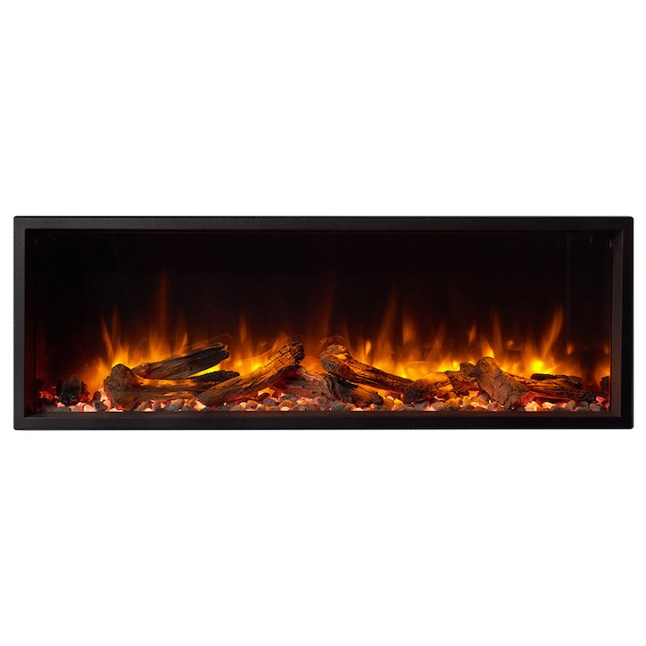 Gazco Skope 105r Built-In Electric Fire - Frontal - Black