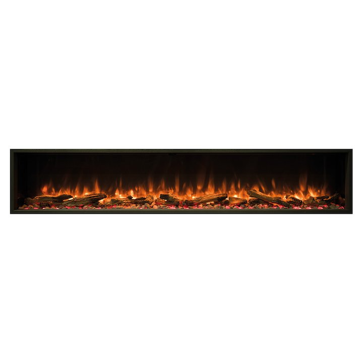 Gazco eReflex 195r Built-In Electric Fire - Frontal - Black