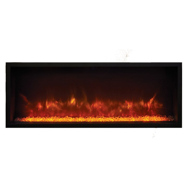 Gazco eReflex 85r Built-In Electric Fire - Frontal - Black