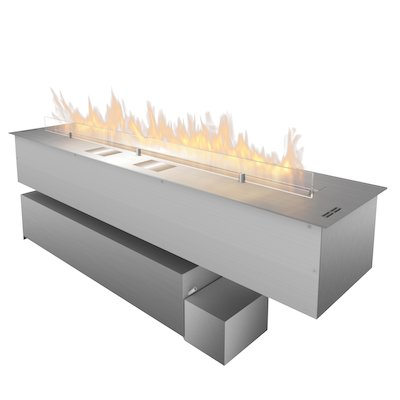 Planika Fireline FLA3/1190 Bio-Ethanol Drop-In Fire Stainless Steel XL Fuel Tank Version