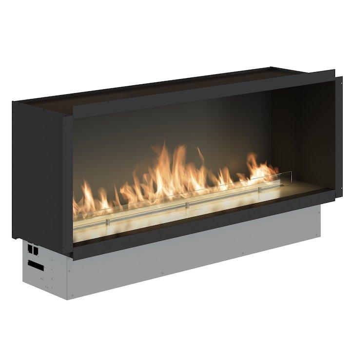 Planika Fireline FLA3/1490 Bio-Ethanol Cassette Fire - Frontal - Stainless Steel