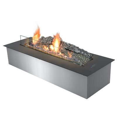 Planika Primefire Bio-Ethanol Drop-in Fire Black Remote Control