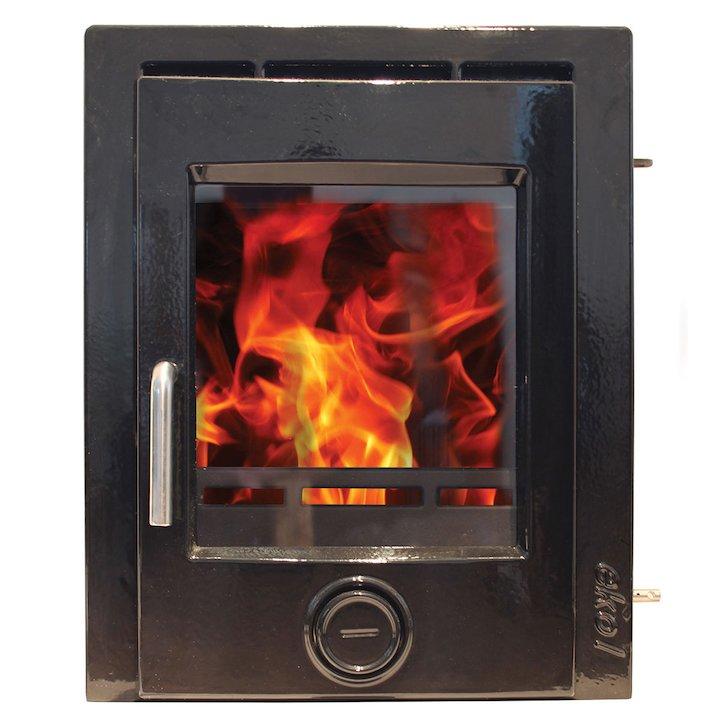Ekol Inset 5 Multifuel Inset Fire - Enamel Black