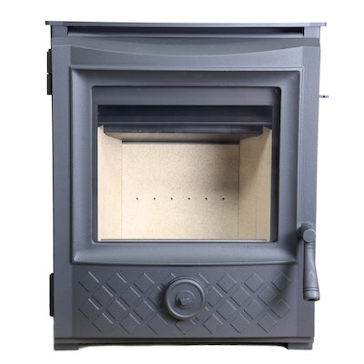 ESSE 350 Multifuel Inset Stove Black Traditional Door