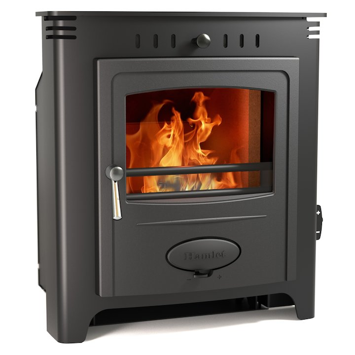Hamlet Solution 7 Multifuel Inset Stove - Black